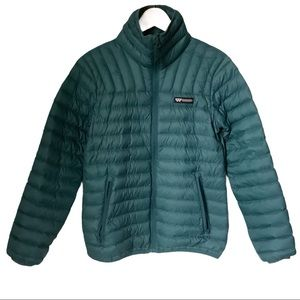 Wilderness Technology Teal Down Puffy Jacket XS